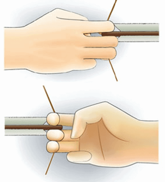 Bottom hand thumb position